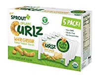 Sprout Organic Baby Food, Sprout Organic Curlz Toddler Snacks, White Chedder, 5 ct. On the Go packaging (5 individual packs), Plant Powered, Gluten Free, USDA Certified Organic, Nothing Artificial(並行輸入商品)