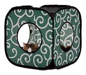 猫壱 キャット プレイキューブ カラクサ 緑