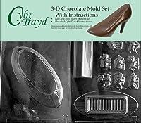Cybrtrayd n030abチョコレートキャンディ金型、Includes 3dチョコレート指示と2-moldキット、Noah 's Arc
