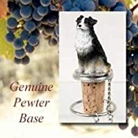 Australian Shepherd Tri-Color Wine Bottle Stopper - DTB99E by Conversation Concepts