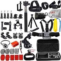 Docooler 46セット Gopro用 カメラアクセサリー 多機能 カム工具セット カメラ保護ツールキット 屋外撮影用