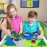 Jasonwell 基礎板 ブロック 板 ブロックプレート 人気 クラシック 片面 穴付き 互換性あり 男の子 女の子 誕生日 クリスマス プレゼント 32ポッチ×32ポッチ 4枚セット ブロック外し付き 画像