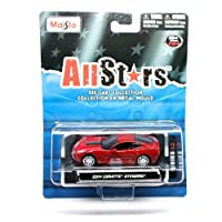 2014 Corvette Stingray (Red) * All Stars Series 13 * 2013 Maisto 1:64 Scale Die-Cast Collection