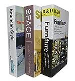 【KURUVARU】 おしゃれ 洋書 インテリア 飾り本 アメリカン イミテーションブック (3冊セット)