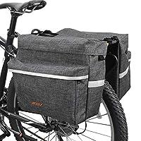 BVバイクバッグ自転車パニア調節可能なフックで、キャリーハンドル、3M反射トリムと大きなポケット グレイ