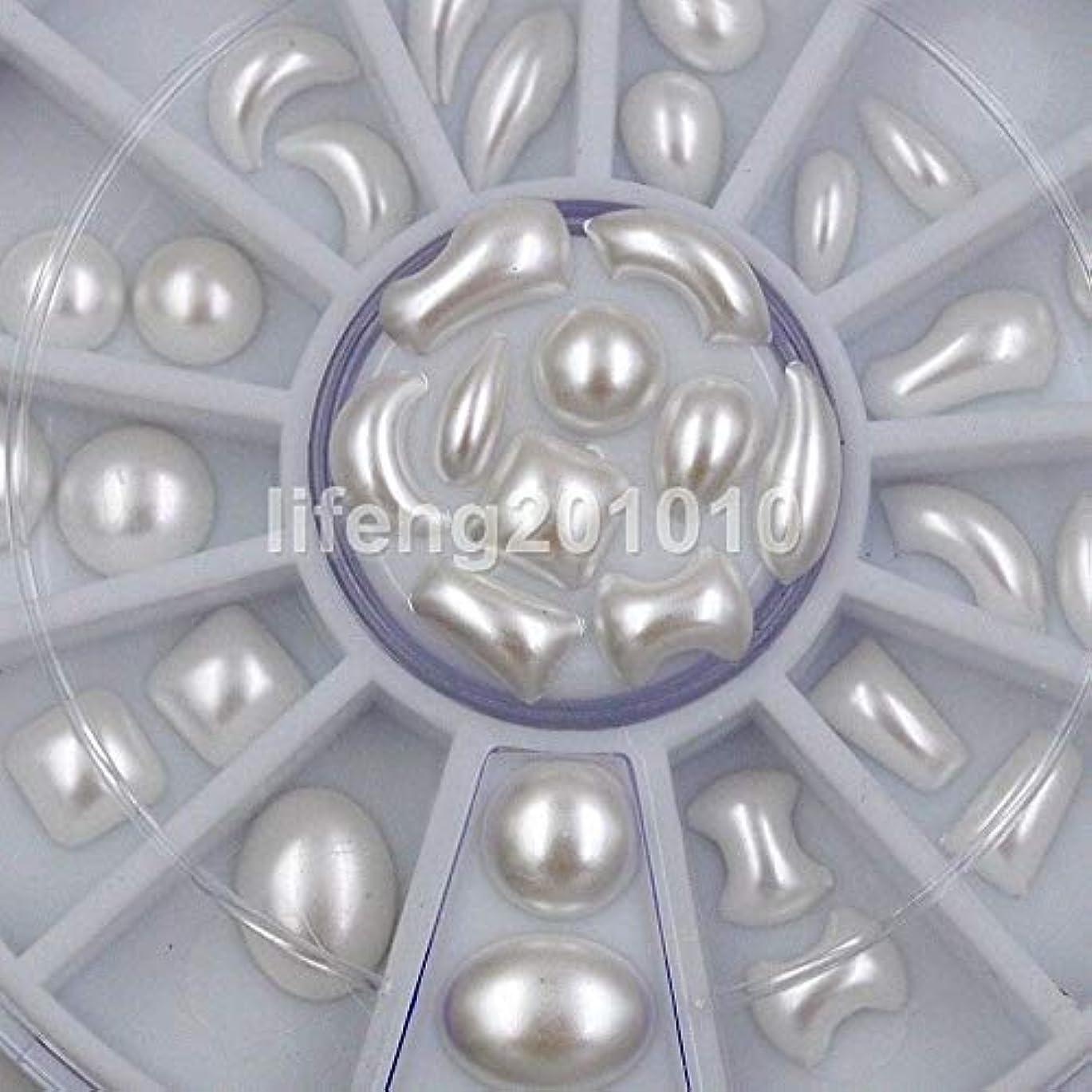 買収酸素隠FidgetGear ミックスデザインホワイト3dグリッターネイルアートデコレーションラインストーンパールホットホイールP