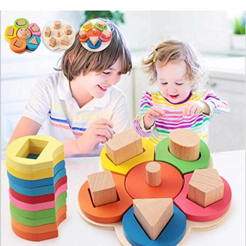 Honel 木製おもちゃ 知育玩具 積み木 型はめ遊び 出産祝い 誕生日 ギフト