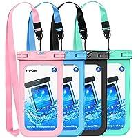 Mpow防水ケース、新しいタイプPVC防水電話ポーチ、ユニバーサルドライバッグfor iPhone X/8/8Plus/7/7Plus、Galaxy/Google Pixel/LG/HTC (4-パック) PAMPPA132AC-USAA1
