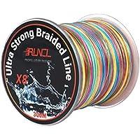 RUNCL高強度 PEライン 釣り糸 8編 5色 マルチカラー100m 300m 500m 1000m【 0.4号 0.6号 0.8号 1号 1.2号 1.5号 2号 3号 4号 5号 6号 7号 8号 9号 10号 11号 12号 13号 14号】