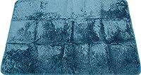 マイクロファイバー シャギー ラグ ラッテ(Latte) 1.5畳 130×185cm (ターコイズブルー)