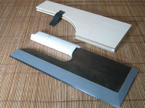 右用 麺切り包丁 鋼付黒 ひも巻き 30センチ (蕎麦打ち道具)