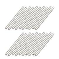 uxcell 丸棒 ラウンドシャフトロッド 鋼製 2mm直径 35mm長さ RCカーアクスル RCモデル用 20個入り