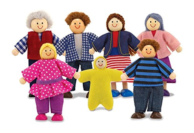 Melissa & Doug学習おもちゃ7 pc人形Family pleyset Toy for Kids