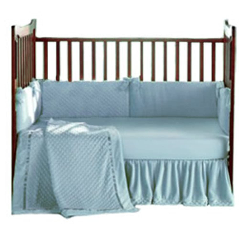 Baby Doll Bedding Heavenly Soft Crib Bedding Set, Blue by BabyDoll Bedding