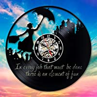 Mary Poppins Vinyl Wall Clock Art Gift Room Modern Home Record Vintage Decoration - Win a prize for feedback