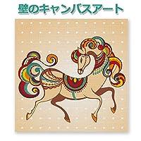 壁の小さなアート 馬 切り絵 イラスト 完全受注生産 日本製 オリジナル画像をキャンバスにUV印刷 日本製