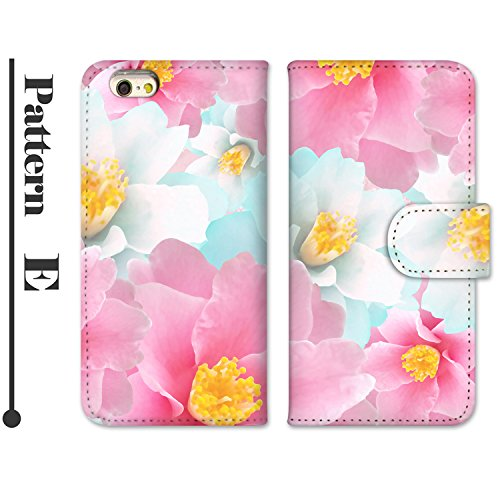 ホワイトナッツ LUMIX Phone P-02D スマホケース 手帳型 プリント手帳 パターンE(wn-670) 花柄 UVプリント 全機種対応
