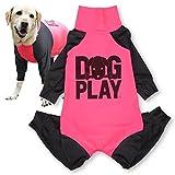 犬猫の服 full of vigor ドッグプレイ(R)プリントラッシュガード 大型犬用 カラー 6 ピンク サイズ BM Tシャツ ロンパース オールインワン つなぎ フルオブビガー