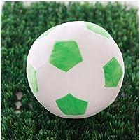 Dalino ソフトぬいぐるみ ソフト シミュレーション 22cm フットボール ぬいぐるみ おもちゃ 人形 子供 ギフト (グリーン ホワイト カラー)