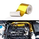 Sporacingrts 汎用 断熱テープ 長さ9M 幅50MM ノーテープ式 インテークパイプ バイク・自動車用 耐熱サーモバンテージ 350度まで 断熱テープ 火傷防止 耐熱テープ タービン保護などに 熱反射テープ ドレスアップに
