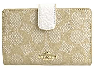 (コーチ) COACH 財布 二つ折り ライトカーキ オフホワイト PVC レザー F53562 アウトレット [並行輸入品]