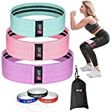 ShapEx Resistance Bands Set of 3 Non-Slip Fabric For Legs And Butt, Exercise Bands Hip Bands Wide Booty Bands Gym Workout Sports and Fitness Bands Stretch Resistance Loops Band with Carry Bag and Guide