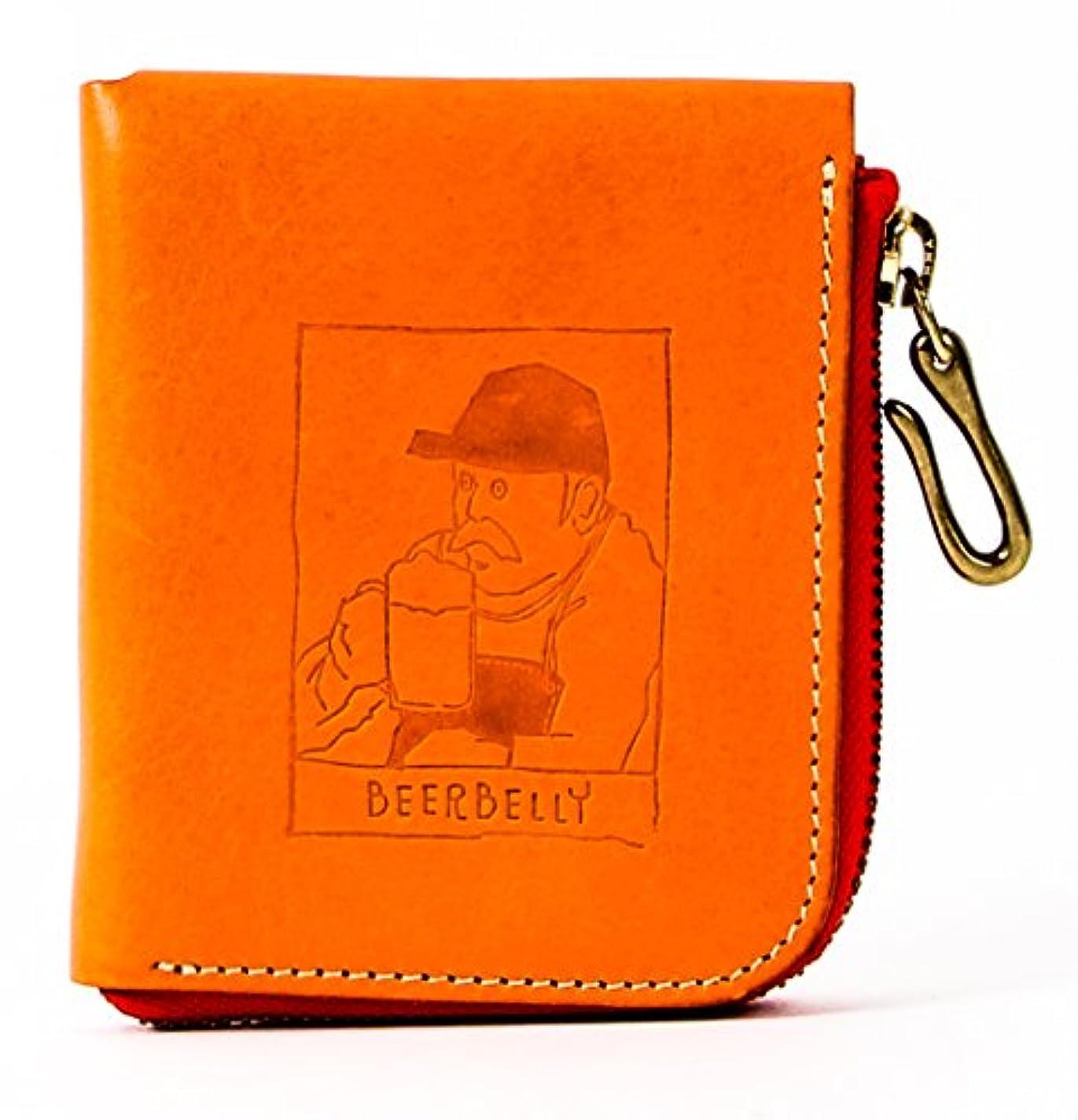 配分着る教育者ビアベリー SMALL ROUND WALLET 二つ折り財布 BEERBELLY