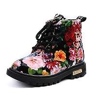 ★可愛いデザインの子供靴&★冬の靴 暖かい★花柄★子供ブーズ★2色 サイズ21-30