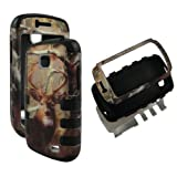 Bk Camo Deer Pine Hybrid 3 in 1 Samsung Galaxy Proclaim SCH-S720C NET 10 Straight Talk / Illusion i110 Verizon Case Cover Hard Phone Case Snap-on Cover Rubberized Touch Faceplates by wirelesspulse [並行輸入品]