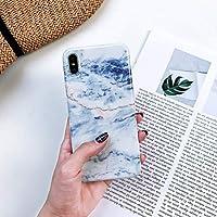 UzdcG iPhone XSケース、iPhone X/iPhone XS用のフルカバー光沢のある大理石の質感耐衝撃TPUケース (サイズ : Ipxs1456d)