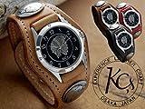 【KC,s】 腕時計 レザーブレスウォッチ3コンチョウォッチ 【FS_708-7】【F2】 (チョコ)