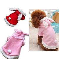 Qiao Niuniu イースターバニーコスチューム犬子犬パーカー犬は小型犬猫用の服 ×ラージ レッド
