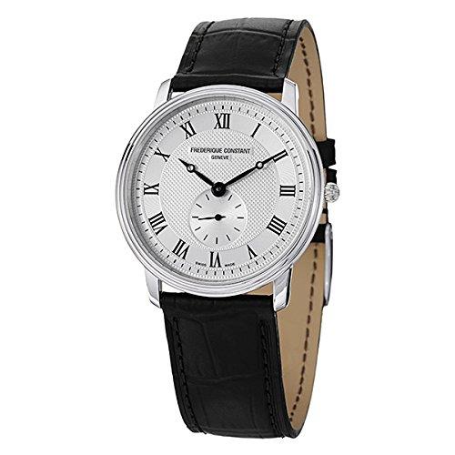 [フレデリックコンスタント]FREDERIQUE CONSTANT メンズ スモールセコンド シルバーケース ホワイト文字盤 37mm ブラック レザー FC-235M4S6 腕時計 [並行輸入品]