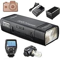 Godox ad200 TTLフラッシュポケットフラッシュ、内蔵2.4G無線Xシステム、2900 mAhリチウム電池,0.01〜2.1秒で500フルパワーフラッシュをリサイクルし、XPro専業ショナルトランスミッタトリガ (AD200+XProC (for Canon))