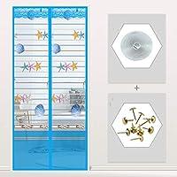 サイレント 南京虫対策 網戸 マグネット式, メッシュ カーテン ドアの網戸 クイック マグネット開閉式 ギャップなし 魔法のドアのメッシュ-K 130x220cm