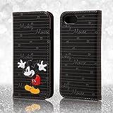 レイ・アウト iPhone7 ケース ディズニー 手帳型 ケース(ICカード /ストラップホール) ポップアップ スタンディング カーシヴ/ミッキーマウス RT-DP12T/MK