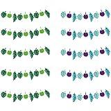 Fenteer バースデーバナー ガーランド レターバナー 誕生日 子供部屋 フェルト バースデー メリーパーティー 植物10個