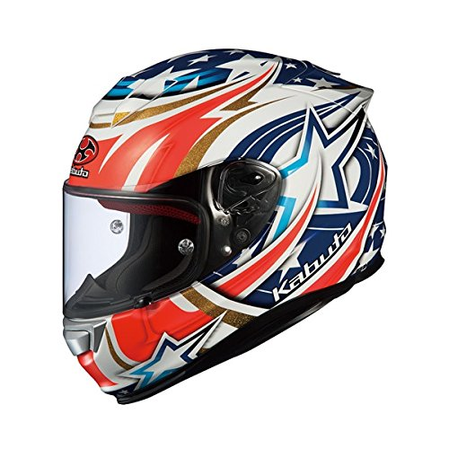 オージーケーカブト(OGK KABUTO)バイクヘルメット フルフェイス RT-33 ACTIVE STAR (アクティブスター) ホワイト (サイズ:XS) RT-33
