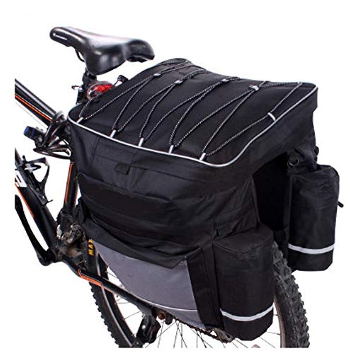 入るリル褐色LYQスポーツ自転車パニエ自転車パニエトランクバッグ、大容量自転車後部座席パニエ防雨カバー自転車サドルバッグ付きサイクリングトリップのフィット 自転車サドルバッグ大容量
