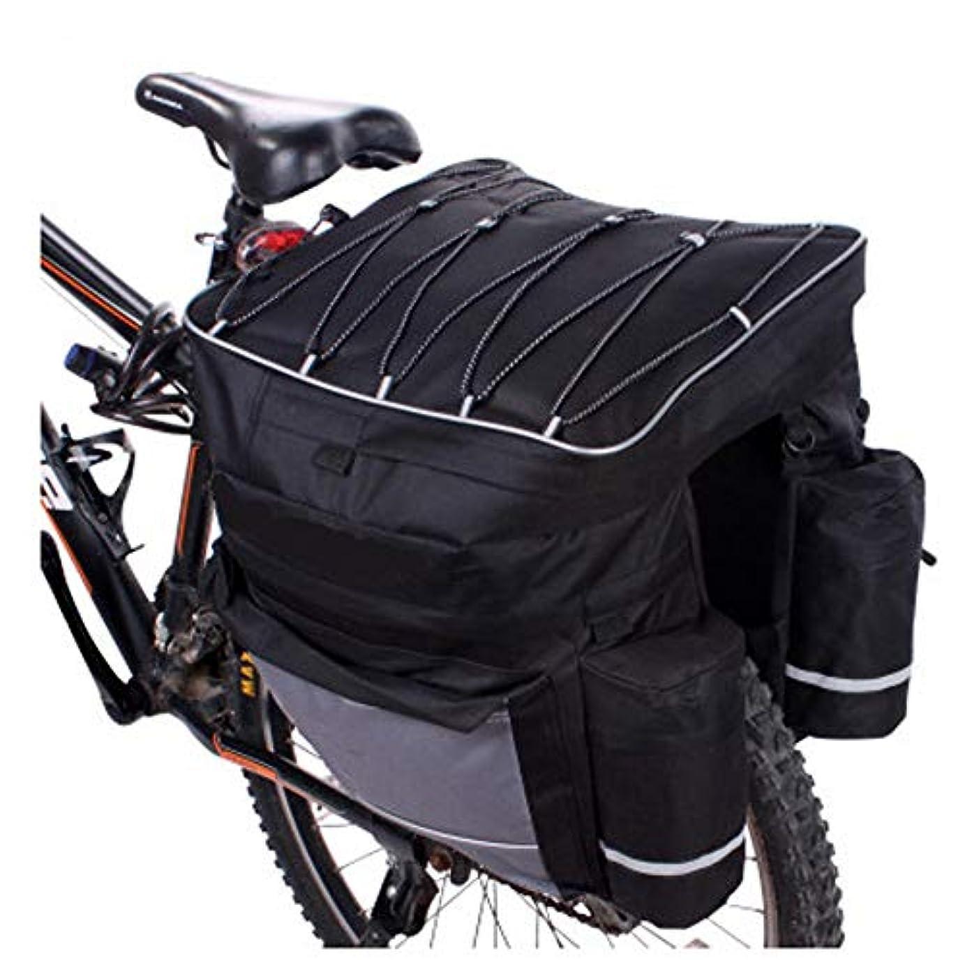 開発いらいらするモールス信号自転ドルバッグ シートポストバッグ LYQスポーツ自転車パニエ自転車パニエトランクバッグ、大容量自転車後部座席パニエ防雨カバー付きサイクリングトリップのフィット 多機能 収納 取り付け簡単 防水
