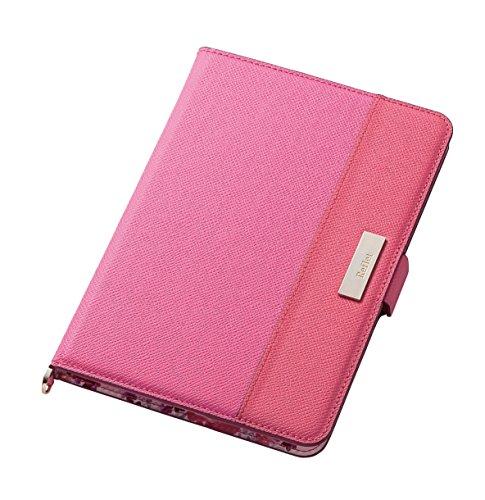エレコム iPadmini4ソフトレザーフラップ/フリーアングル/ガールズ/ディープピンクTB-A17SULFGPND