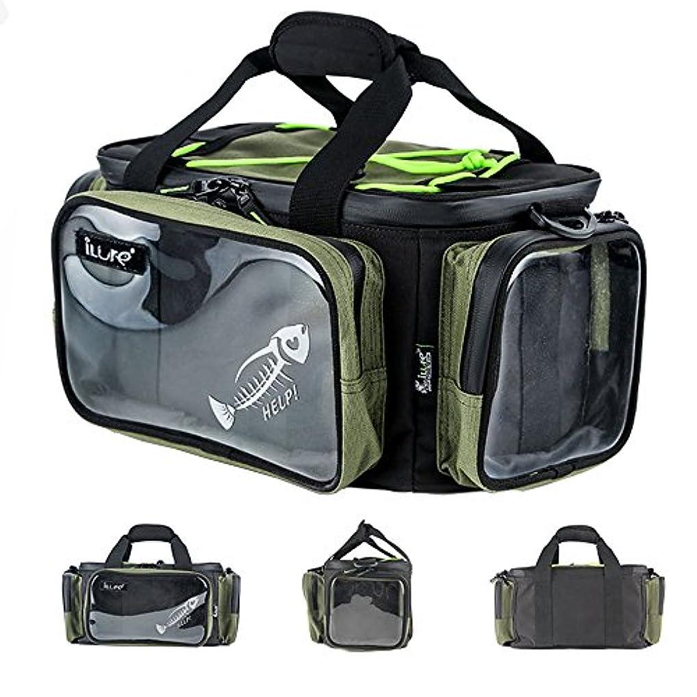 灰スリチンモイ架空のsmarths多機能釣りタックルバッグ、プレミアム大容量防水耐久性釣りギアストレージバッグ