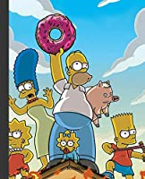 Notebook: The Simpson Cartoon Soft Glossy Cover Graph Paper Pages Book 7.5 x 9.25 Inches 110 Pages