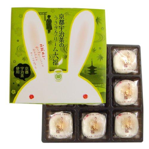 京都宇治茶のうさぎクリーム大福 9個入