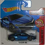 '17 ACURA NSX Hot Wheels 2016 Then and Now Series Blue Super Sport NSX 1:64 Scale Collectible Die Cast Metal Toy Car