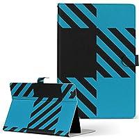 igcase aura h2o rakuten 楽天 Kobo コボ 用 タブレット 手帳型 タブレットケース タブレットカバー カバー レザー ケース 手帳タイプ フリップ ダイアリー 二つ折り 直接貼りつけタイプ 004303 チェック・ボーダー 模様 青 黒