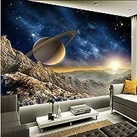 Xbwy カスタム壁画壁紙3Dステレオプラネットムーン壁画レストランクラブKtvバーモダンな装飾壁紙-280X200Cm