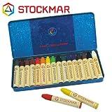 Stockmar(シュトックマー社) 蜜ろうクレヨン スティッククレヨン 16色 缶【ST32002】