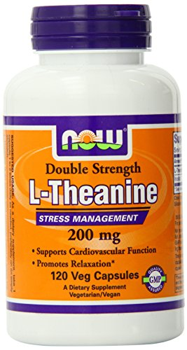 Now Foods L-Theanine Veg Capsules, 200 mg, 120 Count 海外直送品