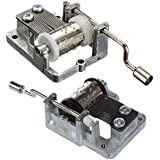 Moligh doll 2 PCS Music Box Cranked Inner Rotational Movement(Happy Birthday to You & for Elise)